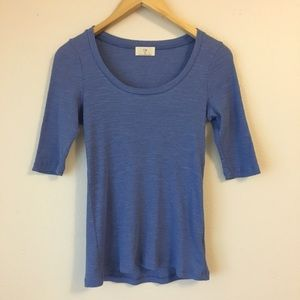 Anthropologie t.la Ribbed Scoop Neck Tee Shirt